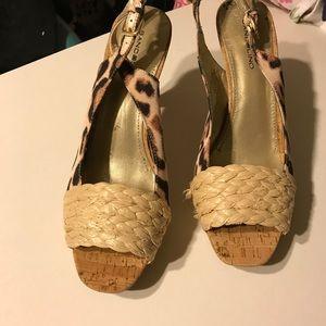 Bandolino leopard sandals 7.5
